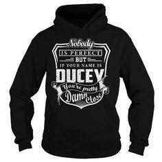 I Love DUCEY Last Name, Surname Tshirt T shirts