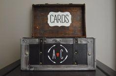 Rustic Card Box Holder for weddings Large Rustic by AnArtsyAffair