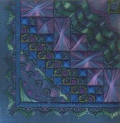 "Ebb Tide - first in the ""Elements"" series.  Charted needlepoint canvaswork pattern."