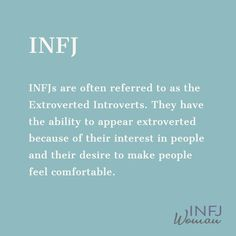 INFJs are the extroverted introverts. INFJs are the extroverted introverts. Infj Type, Intj And Infj, Introvert Quotes, Extroverted Introvert, Enfj, Mbti Personality, Myers Briggs Personality Types, Infj Traits, Infj Problems