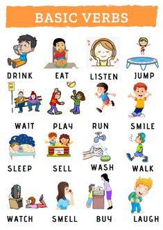Basic Verbs interactive activity
