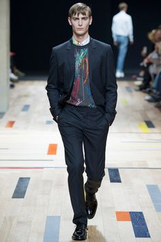 From Dior Homme 2015 Spring Fashion Show...but I'm interested in him above all...