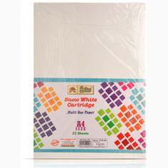 Lotus Snow White Cartridge Sheets, Sheets - 25 — Colored cartridge sheets for creating different shapes, pictures, drawings etc.