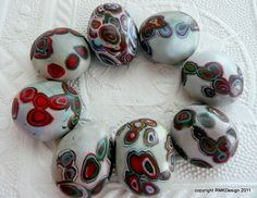 Leopardskin Jasper polymer clay pebbles | Some new pebbles f… | Flickr