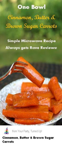 This combination of butter, brown sugar and cinnamon complements the fresh flavor of the carrots perfectly.  Great dish year-round! Recipe For Glazed Carrots, Glazed Carrots Oven, Steamed Carrots Recipe, Recipes For Carrots, Brown Sugar Glazed Carrots, Easy Carrot Recipes, Cooked Carrots, Candied Carrots Recipe Brown Sugar, Copper Pennies Recipe Carrots
