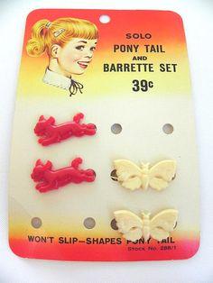 Vintage Solo Girls Barrettes