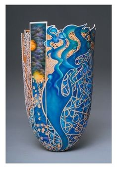 'Sea of Serenity' glass vase by Binh Pho