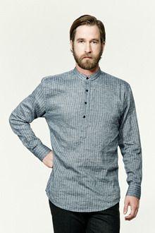 Belkman BRIT스트라이프 헨리넥 셔츠(2col)