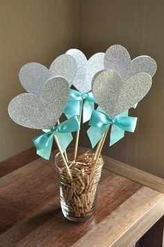 512bf12f9753 Bridal Shower Centerpiece. Ships in 1-3 Business Days. Heart Wands 5CT