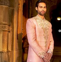 Embroidered Sherwani Mens Sherwani, Sari, Fashion, Saree, Moda, Fashion Styles, Fashion Illustrations, Saris, Sari Dress