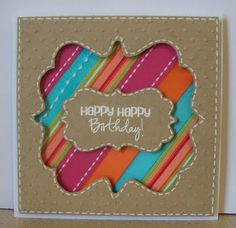 Love these layers -- and how cool to use kraft paper and these bright happy colors!  NF