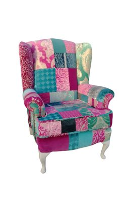 Genial Shabby Chic Patchwork Chair By Katie Moore