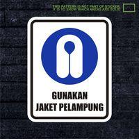 WSKPC060 Sticker Safety Sign Warning Sign Gunakan