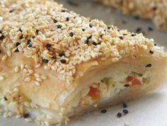 מתכון: מאפה פילו במילוי גבינה ופלפלים