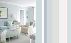 Голубая гостиная в прохладных тонах дизайн фото