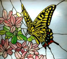 Butterfly stained glass at Chicago's Navy Pier