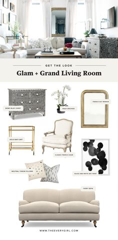 Get The Look: Glam and grand living room from Kat Tanita's NYC apartment