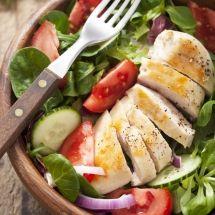 Ma recette du jour : Salade au blanc de poulet sur Recettes.net