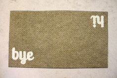 such a fun idea for a neutral welcome mat with character.