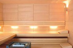 La iluminación especial ALBAZZA aporta grandes dosis de relajación al ambiente de la sauna. Desprendiendo una luz agradable y tenue que acentúa la tranquilidad.