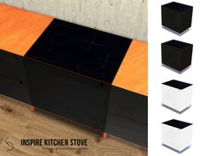 Enjoy cooking on this stylish, integrated stove with an induction range. Fits with the style of the INSPIRE Kitchen Counter 1. With a hidden oven! Comes in four swatches - White/Metal legs,...