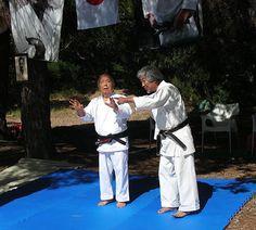 Soke Mabuni Kenei and Sensei HatanoYoshiharu - Corsica 2009