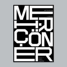 Jeff Talks: Meriç Öner, Talk Poster P.S. Instagram account: @sabriakin | VISUALGRAPHC