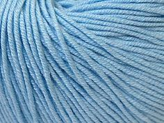 Baby Summer - Baby Blue: 8 x 50g/160m, SYW2, 60% Cotton 40% Acrylic Baby Yarn at Anjicat's Rocking Chair