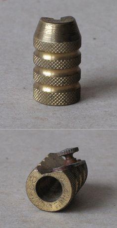Antique Brass Hand Pencil Sharpener Granate 5 1930s | eBay