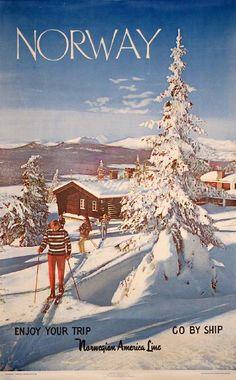 PosterTeam.com - Large Poster Photo: Norway - Ski - Norwegian America Line
