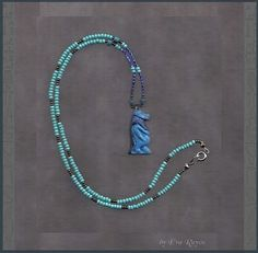 Egyptian Faience Hippo Taweret or Taouris by worldspiritart, $16.00