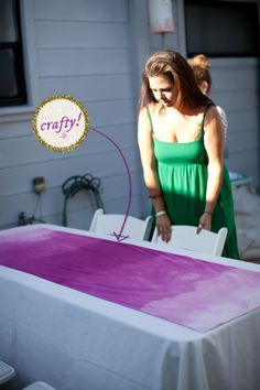 How to Make an Ombre Table Runner