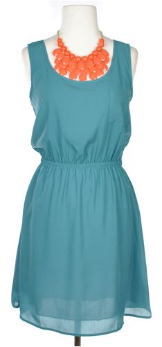 Bown to Run Dress in Teal - Dresses