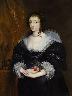 1632 Henrietta Maria by Sir Anthonis van Dyck