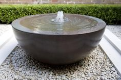 Water bowl with fountain