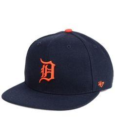 7adfd7f1af0  47 Brand Boys  Detroit Tigers Basic Snapback Cap - Navy Navy Adjustable. Detroit  TigersSnapback CapSports Fan ShopMens ...
