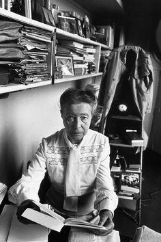 Simone de Beauvoir at home