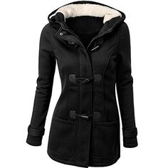 Winter Jacket Women Hooded Winter Coat Fashion Autumn Women Parka Horn Button Coats Abrigos Y Chaquetas Mujer Invierno 2015 Long Hooded Coat, Hooded Winter Coat, Long Trench Coat, Hooded Jacket, Trench Jacket, Long Parka, Hooded Coats, Hooded Parka, Women's Coats