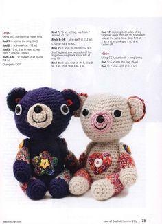 My Billy and Belinda! crochet bears