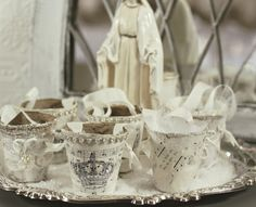 Breathtakingly Gorgeous Christmas Peat Pots by Shabby Sweet Cottage.