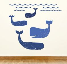 Whale Wall Decals | Wall Decals For Kids Rooms