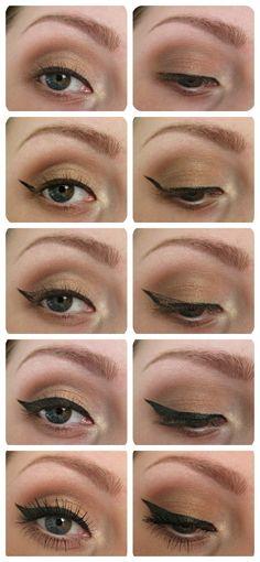 retro eyeliner tutorial