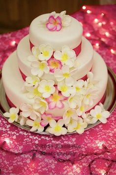 plumeria cake