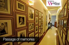 How does going down memory lane sound like? Pictures of family, parents, extended family, all are adorned in the passage of FWT readers' Shivani and Sarat Chopra's house. Pretty cool decor idea eh?  #interior #decor #wedding #love #pictures #photographs