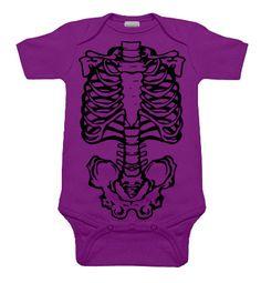 Skeleton Purple & Black One Piece