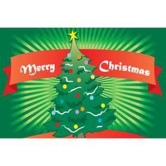 """2x3 """"Merry Christmas Tree"""" Seasonal Flag; Nylon H&G - Flags A Flying"""