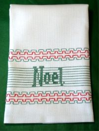 Noel Huck Embroidery Towel Kit Swedish Weave Huck Embroidery StitchOnItDirect