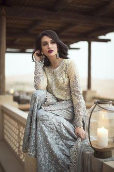 Pakistani couture Ansab Jahangir Zahira Bridals F/W 2016 Pakistani Couture, Pakistani Bridal, Pakistani Outfits, Indian Outfits, Ethnic Fashion, Asian Fashion, Desi Clothes, Asian Clothes, Party Clothes