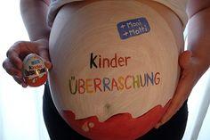 Bauchbemalung Kinderüberraschung