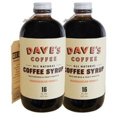 Vanilla Dave's All Natural Coffee Syrup